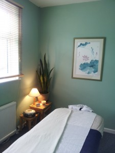 My treatment room at The Healing Rooms